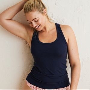 NWT Aerie real soft navy ribbed summer tank top ☀️